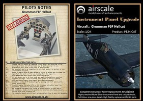 Airscale 1/24 F6F Hellcat Instrument Panel Upgrade (Photo-Etch & Decal) for ARX