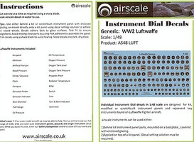 Airscale 1/48 WWII Luftwaffe Instrument Dials (Decal)
