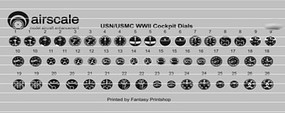 Airscale 1/48 WWII US Navy Instrument Dials (Decal)