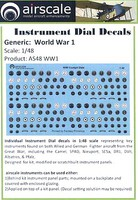 Airscale 1/48 WWI Allied & German Instrument Dials (Decal)