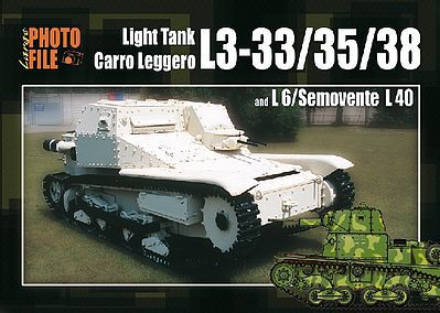 Auriga Publishing Photo File Large 2 - Light Tank L3-33/35/38 & L6/Semovente L40 -- Military History Book -- #pf2