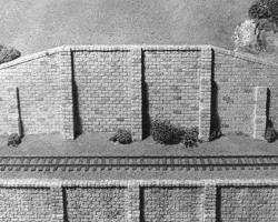 AIM Retaining Wall (Cut Stone, 2 Pack) HO Scale Model Railroad Scenery #106