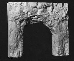 AIM Single-Track Tunnel Portal (Blasted Rock) HO Scale Model Railroad Scenery