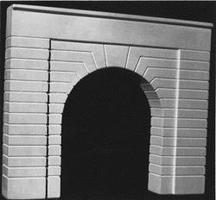AIM Single-Track Tunnel Portal (Groove Face) HO Scale Model Railroad Scenery