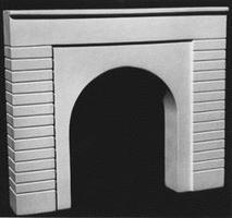 AIM Single-Track Tunnel Portal (Plain Face) HO Scale Model Railroad Scenery