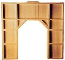 AIM Single-Track Tunnel Portal (Wood Outside-Braced) HO Scale Model Railroad Scenery