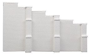 AIM Brick Tapered Wing Walls - Unpainted Cast Hydrocal(R) HO Scale Model Railroad Scenery #152