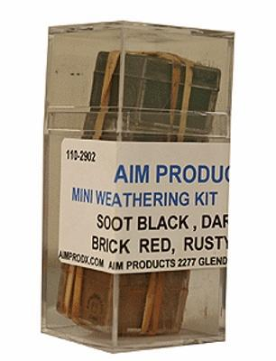 A I M Products Mini Weathering Powder Kit - 1/4oz Each -- #2902