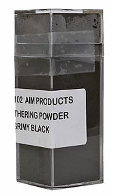 A I M Products Colored Weathering Powder Approx. 1oz - Grimy Black -- #3102