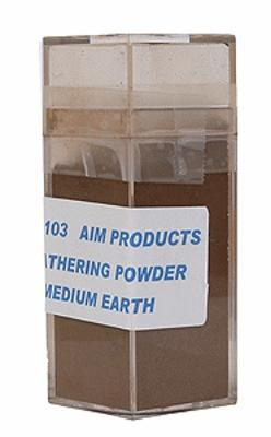 A I M Products Colored Weathering Powder Approx. 1oz - Medium Earth -- #3103