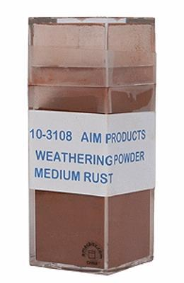 A I M Products Colored Weathering Powder Approx. 1oz - Medium Rust -- #3108