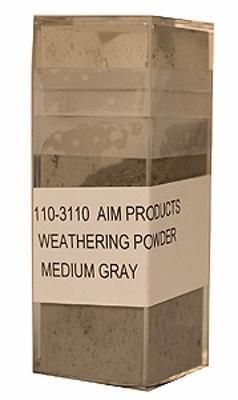 A I M Products Colored Weathering Powder Approx. 1oz - Medium Gray -- #3110