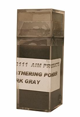 A I M Products Colored Weathering Powder Approx. 1oz - Dark Gray -- #3111