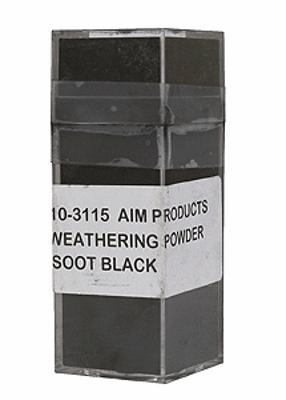 A I M Products Colored Weathering Powder Approx. 1oz - Soot Black -- #3115