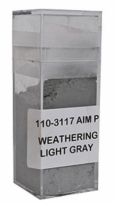 A I M Products Colored Weathering Powder Approx. 1oz - Light Gray -- #3117