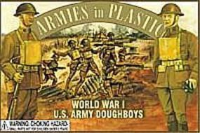 ArmiesInPlastic WWI US Army Doughboys (16) Plastic Model Military Figure 1/32 Scale #5401