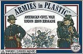 ArmiesInPlastic American Civil War Union Iron Brigade (20) Plastic Model Military Figure 1/32 Scale #5410