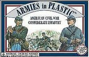 ArmiesInPlastic American Civil War Confederate Infantry Plastic Model Military Figure 1/32 Scale #5411
