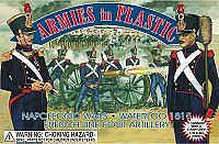 ArmiesInPlastic Waterloo 1815 French Line Foot Artillery Plastic Model Military Figure 1/32 Scale #5429