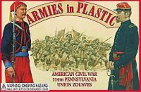 ArmiesInPlastic Civil War 114th Union Pennsylvania Zouaves Plastic Model Military Figure 1/32 Scale #5437
