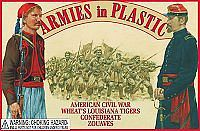 ArmiesInPlastic Civil War Louisiana Tiger Confederate Zouaves Plastic Model Military Figure 1/32 #5439