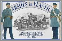 ArmiesInPlastic American Civil War 1861-65 Confederate Marines Plastic Model Military Figure 1/32 #5460