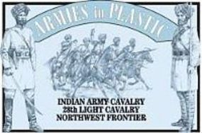 ArmiesInPlastic Indian Army Cavalry 28th Light Lancers Plastic Model Military Figure 1/32 Scale #5474