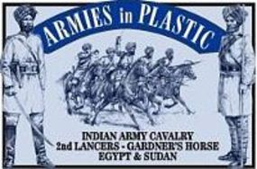 ArmiesInPlastic Indian Army Cavalry 2nd Lancers Gardeners Horse Plastic Model Military Figure 1/32 #5475