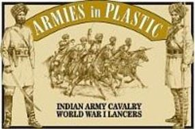 ArmiesInPlastic WWI Indian Army Cavalry Lancers (5 Mtd) Plastic Model Military Figure 1/32 Scale #5476