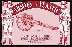 ArmiesInPlastic American Revolution British Regiment Artillery Plastic Model Military Figure 1/32 #5479
