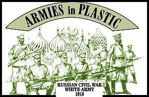 Armies In Plastic Russian Civil War 1918 White Army (20) -- Plastic Model Military Figure -- 1/32 Scale -- #5482