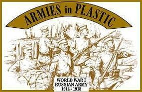 ArmiesInPlastic WWI 1914-18 Russian Army (20) Plastic Model Military Figure 1/32 Scale #5484