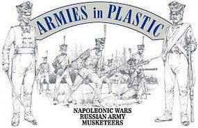 ArmiesInPlastic Napoleonic Wars Russian Army Musketeers Plastic Model Military Figure 1/32 Scale #5493