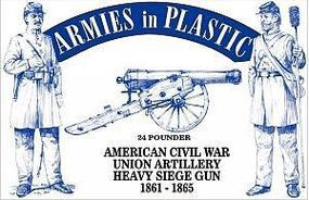 ArmiesInPlastic American Civil War Union Artillery Plastic Model Military Figure 1/32 Scale #5499