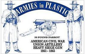 ArmiesInPlastic American Civil War Union Artillery Plastic Model Military Figure 1/32 Scale #5500