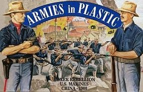 ArmiesInPlastic Boxer Rebellion China 1900 US Marines Plastic Model Military Figure 1/32 Scale #5508