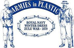 ArmiesInPlastic Zulu War 1879 Royal Navy Winter Dress (20) Plastic Model Military Figure 1/32 Scale #5510