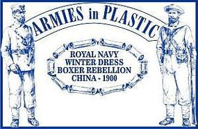 ArmiesInPlastic Boxer Rebellion China 1900 Royal Navy Winter Dress Plastic Model Military Figure 1/32 #5512