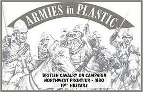 ArmiesInPlastic 1880 British Cavalry Campaign 19th Hussars Plastic Model Military Figure 1/32 Scale #5527