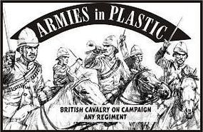 ArmiesInPlastic British Cavalry on Campaign Any Regiment Plastic Model Military Figure 1/32 Scale #5529