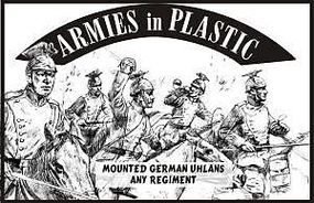 ArmiesInPlastic German Ulhans Any Regiment (5 Mtd) Plastic Model Military Figure 1/32 Scale #5538