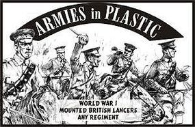ArmiesInPlastic WWI British Lancers Any Regiment (5 Mtd) Plastic Model Military Figure 1/32 Scale #5541