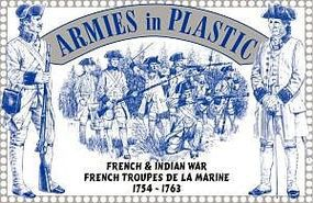 ArmiesInPlastic French & Indian War French Troupes De La Marine Plastic Model Military Figure 1/32 #5543