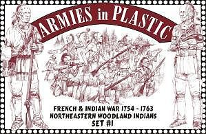 ArmiesInPlastic Northeastern Woodland Indians Set #1 Plastic Model Military Figure 1/32 Scale #5547
