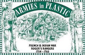 ArmiesInPlastic French & Indian War 1754-63 Rogers Rangers Plastic Model Military Figure 1/32 Scale #5549