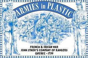 ArmiesInPlastic Quebec 1759 John Starks Co. of Rangers Plastic Model Military Figure 1/32 Scale #5550