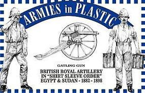 ArmiesInPlastic British Royal Artillery Shirt Sleeve Order Plastic Model Military Figure 1/32 Scale #5556