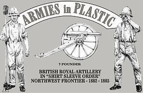 ArmiesInPlastic British Royal Artillery Shirt Sleeve Order Plastic Model Military Figure 1/32 Scale #5563