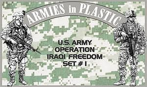 Armies In Plastic US Army OIF Set #1 (18) -- Plastic Model Military Figure -- 1/32 Scale -- #5576