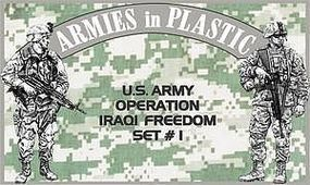 ArmiesInPlastic US Army OIF Set #1 (18) Plastic Model Military Figure 1/32 Scale #5576